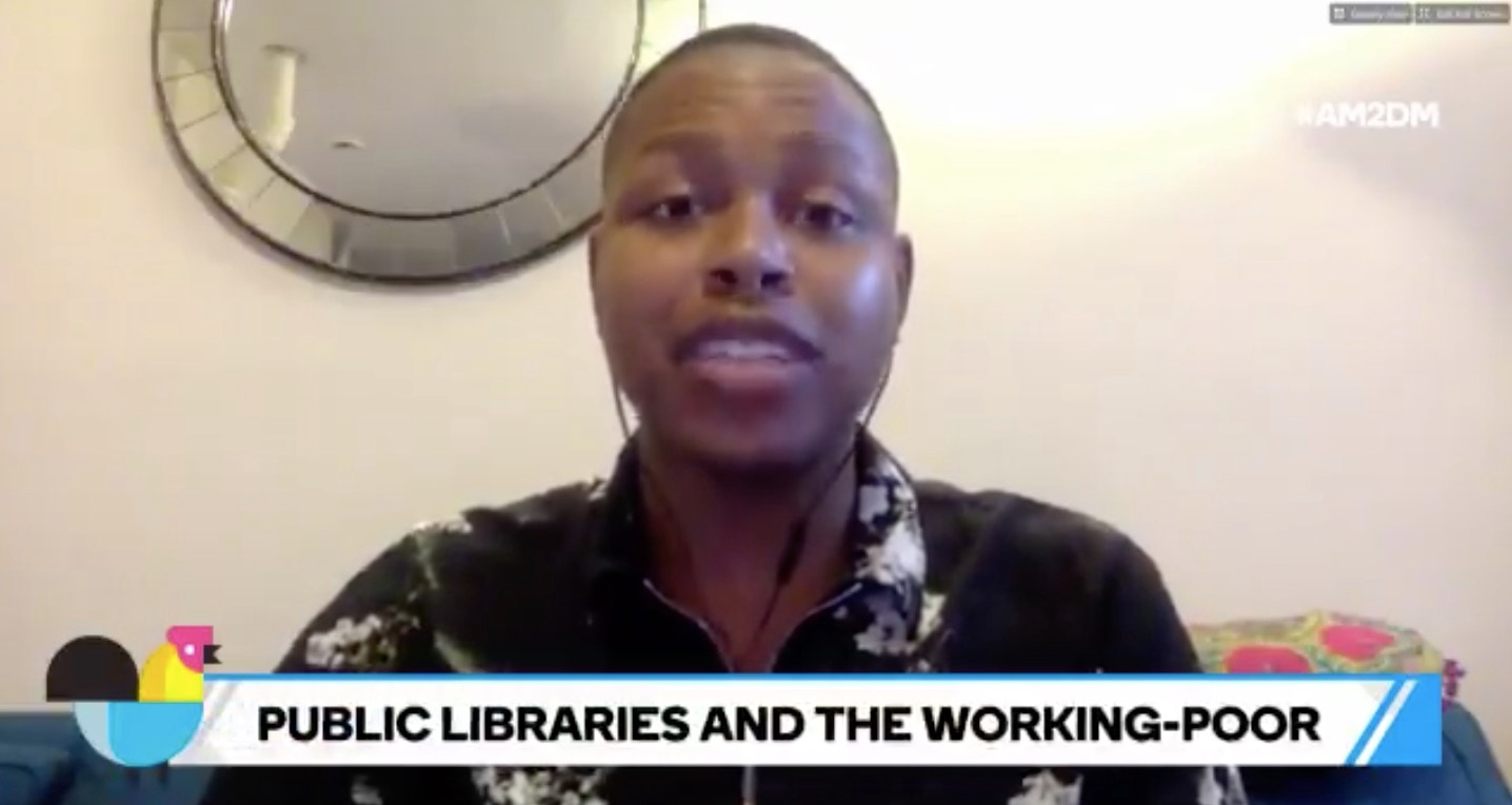 "BUZZFEED AM2DM - JULY 2018 II ""Libraries are more than just book warehouses, says @cyreejarelle— many provide GED programs, aid to job seekers, and services for the homeless."""