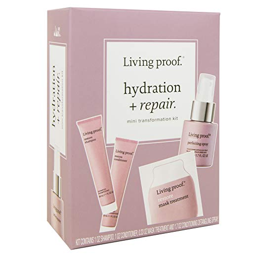 5. Living Proof Hydration + Repair - This mini transformation kit is great if you want to test out Living Proof products or if you're traveling! Again, with the harsh and dry winter season, not only does my skin dry out, my hair dries out too! This mini set includes shampoo, conditioner, perfecting spray and hair mask treatment. Everything needed to give my hair a boost of hydration!$18.00