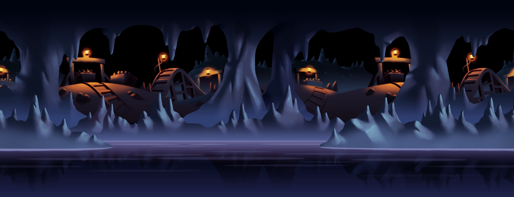 Preview of final background painting.