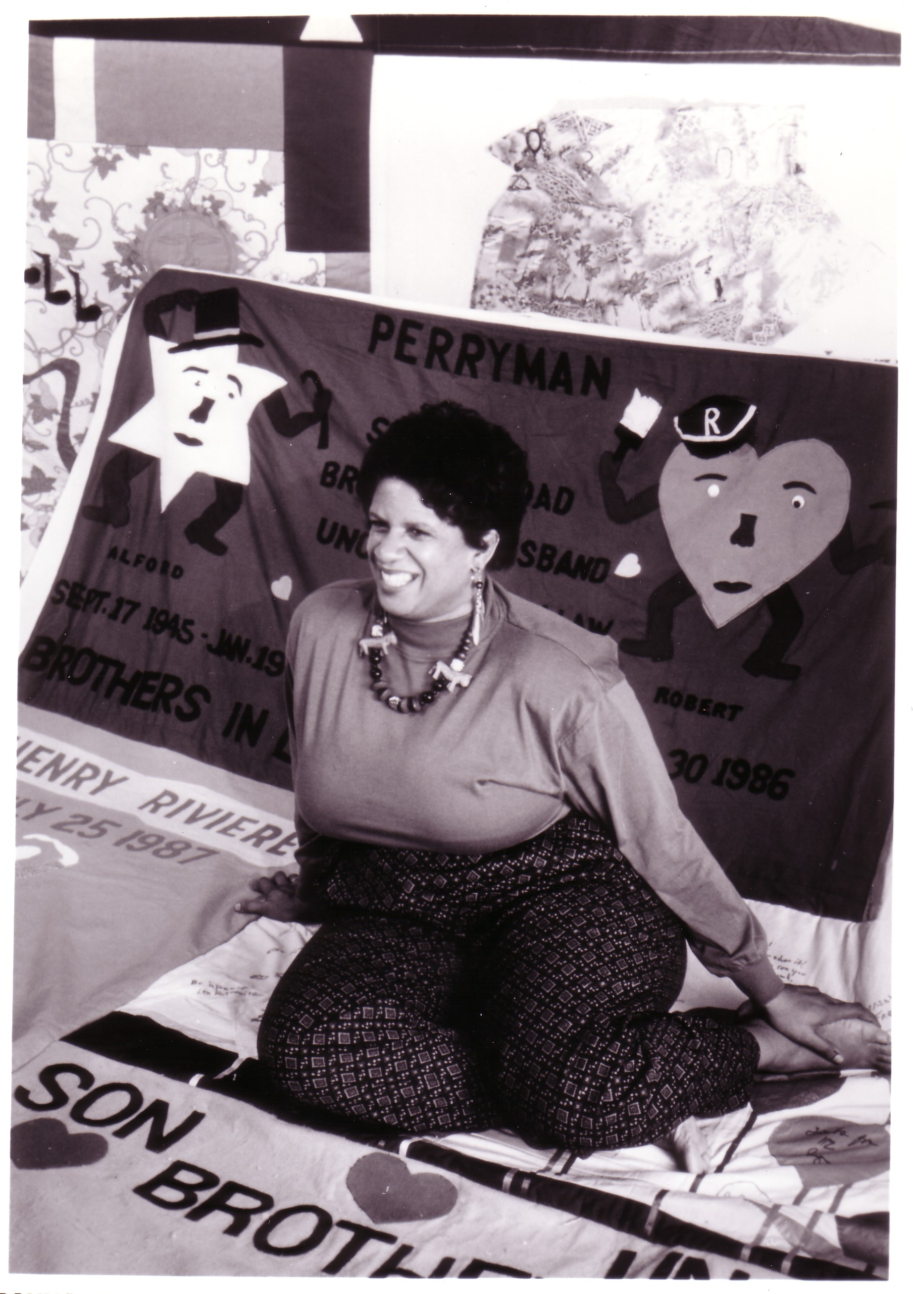 2.  Sallie Perryman with the panel she and her family made f.jpg
