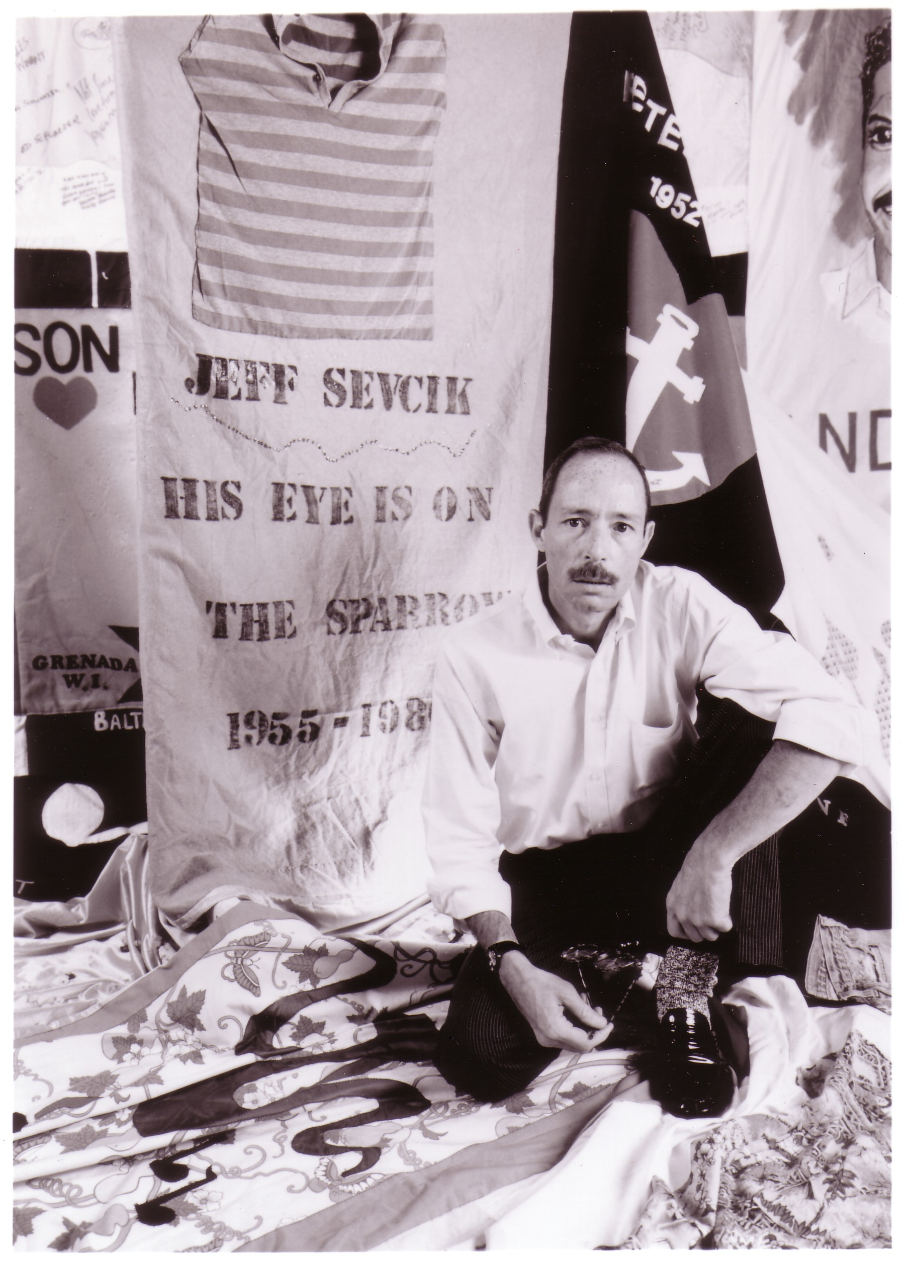 1.  Vito Russo with the panel he made for his lover Jeff Sev.jpg