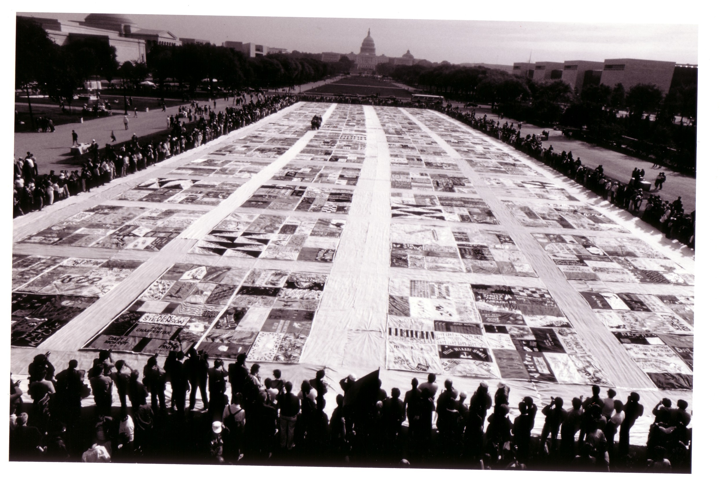 10.  The NAMES Project AIDS Memorial Quilt unfolded on the M.jpg