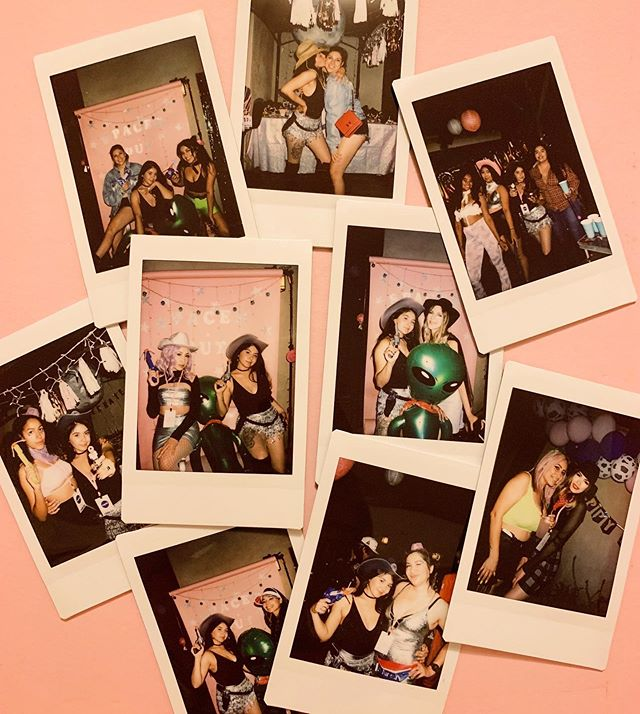 GIRLS JUST WANNA HAVE FUN ... in space ... at a rodeo ... with cute outfits ... and bad bunny playing in the background ✨🍾🌈🚀🥂💫💕🌙🐎🍻