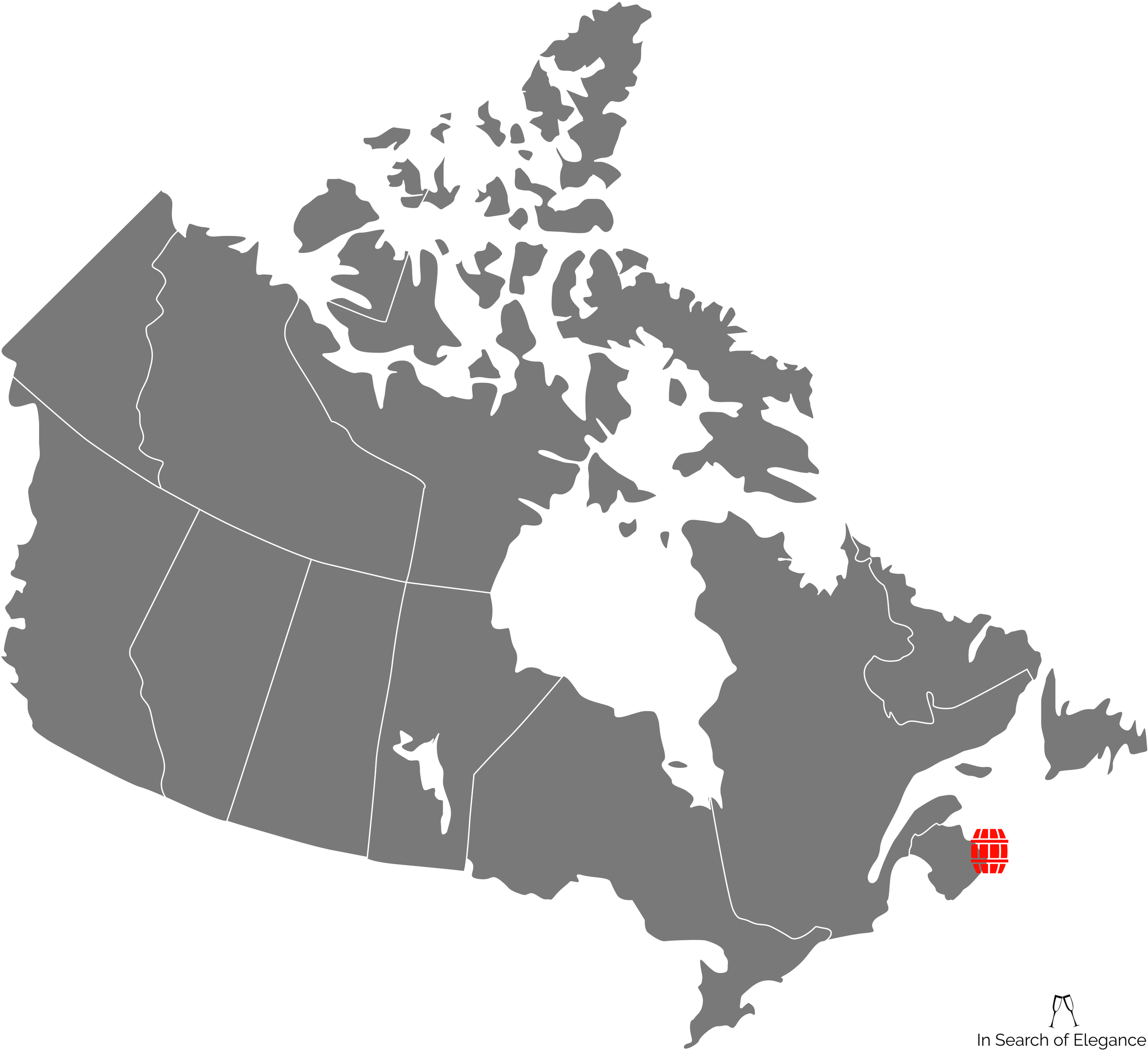 The map doesn't quite show Nova Scotia (or PEI, for that matter) properly. A search for Cape Breton might give you a better sense of the island than the crude positioning above....