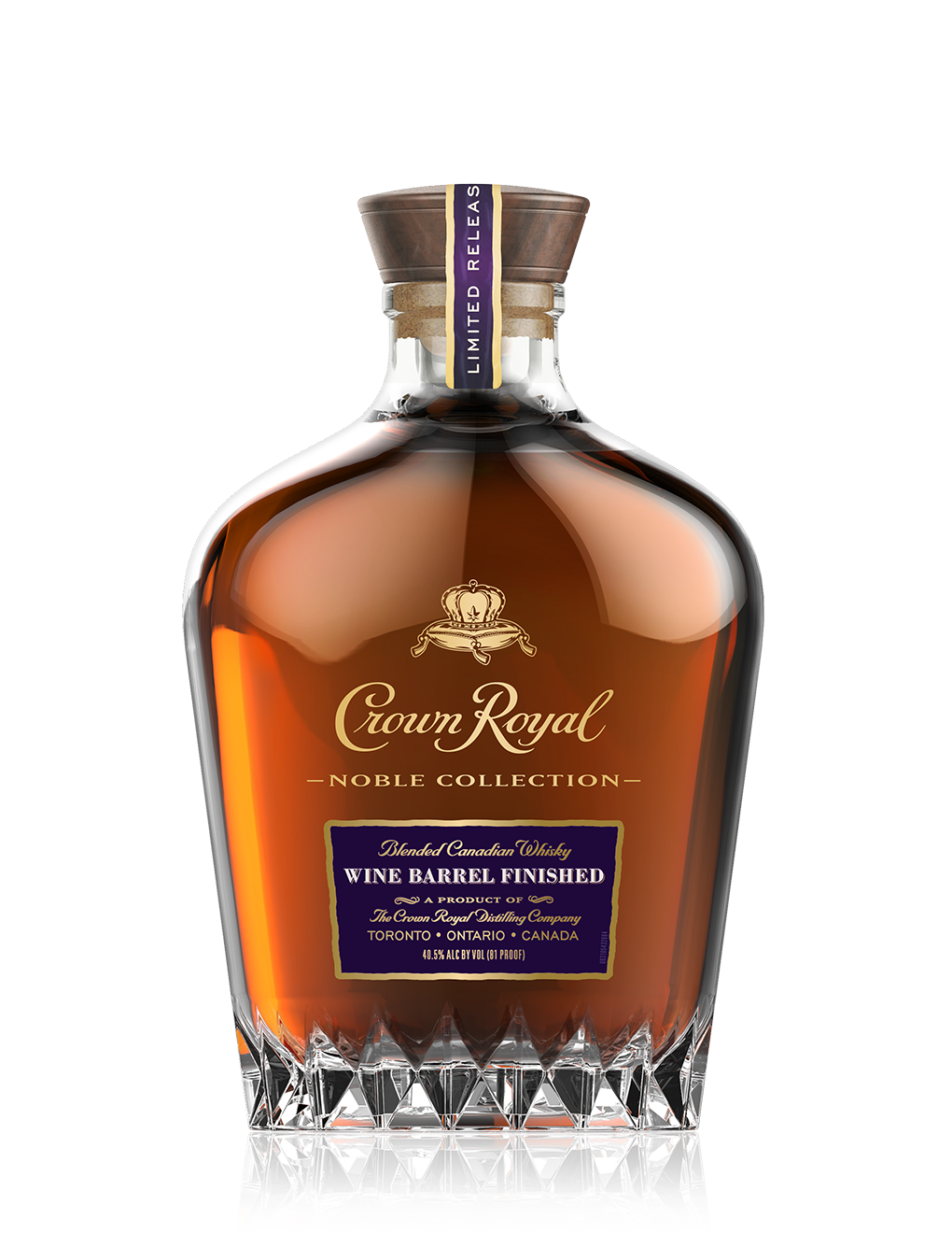 Thanks to Crown Royal for the image. Note that this is the wine barrel finish - the bottle is the same as the blender's mash.