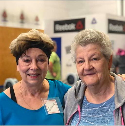 Gloria and Louise enjoying another class at Reebok CrossFit 306.
