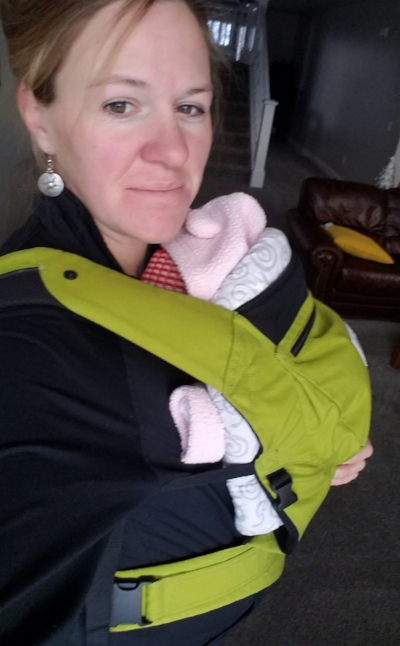My lime green Ergo is our favorite carrier.