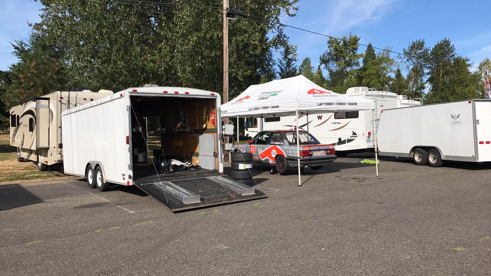 Our setup at Portland International Raceways