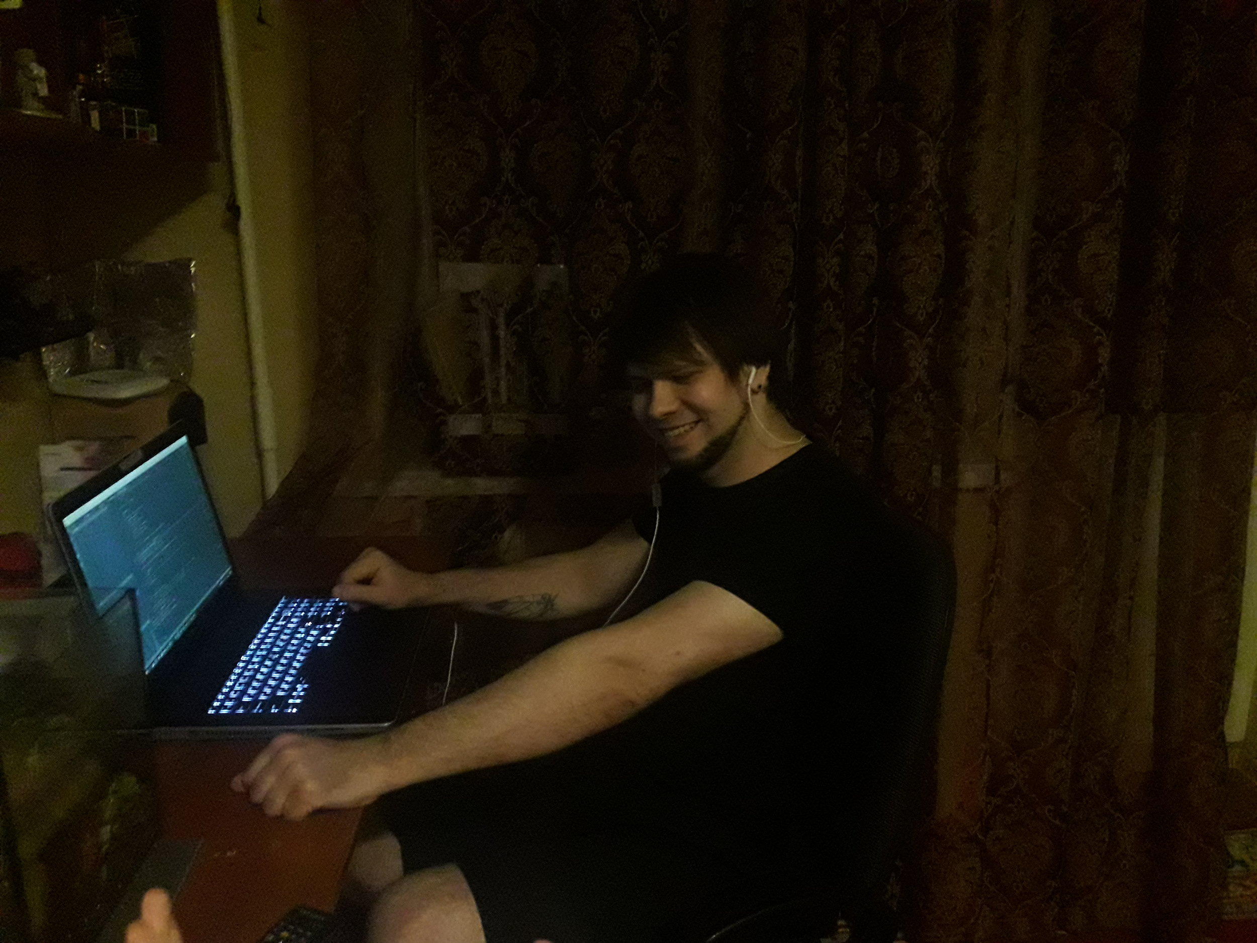 Alex holding the fort down in Ukraine!