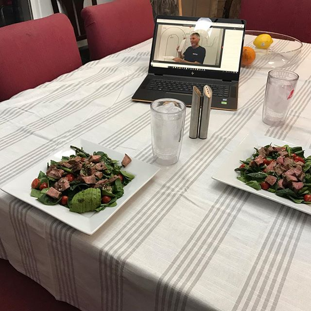 Nothing like a romantic mid-week low-carb dinner that is full of Vitamin SS (#speedsecrets). 😜😬 @rossbentley  #becauseracecar  #trailbraking  #thatracecarlife #iwannagofast #2019nasanationalchamps #datadriven