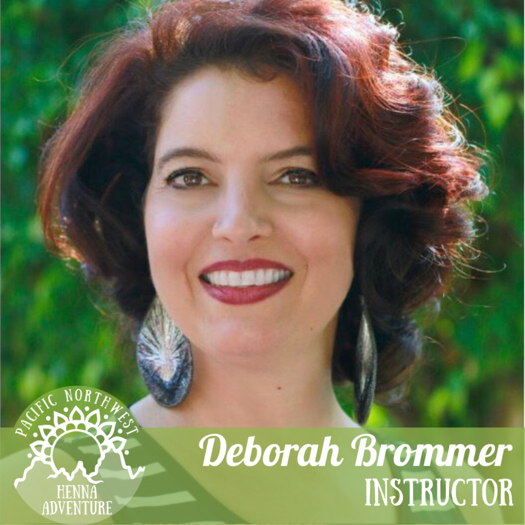 Deborah Brommer - @dbrommerartDeborah Brommer has been a henna artist since discovering the art form in 1999 in Morocco. In the years since she has taught henna at a multitude of face and body art conventions and conferences, has published 3 books of henna designs for the artist, and is a board member of the ICNHA (International Certification for Natural Henna Artists), an organization which supports the safety, scientific and cultural knowledge of henna among its members.