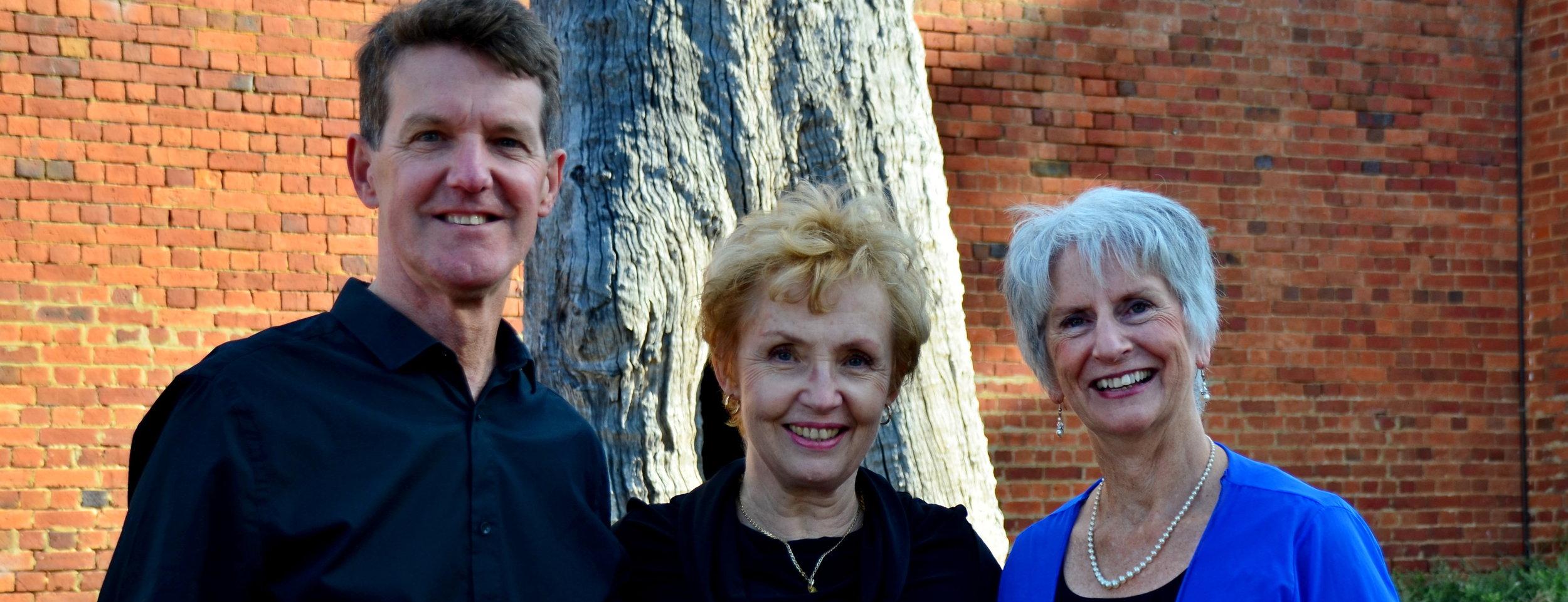 Leadership Team 2019: Laura Dusselje, Peter Butler & Valerie Lovejoy