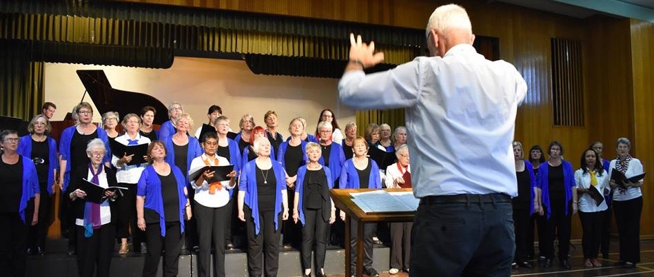 Kernag music society choir  terry carter musical director -with the women of note nov 2018
