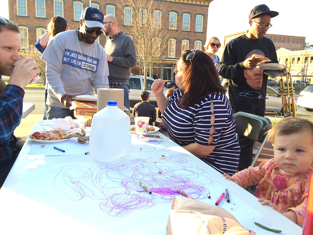 Macon, Georgia // Community potluck activating a vacant space
