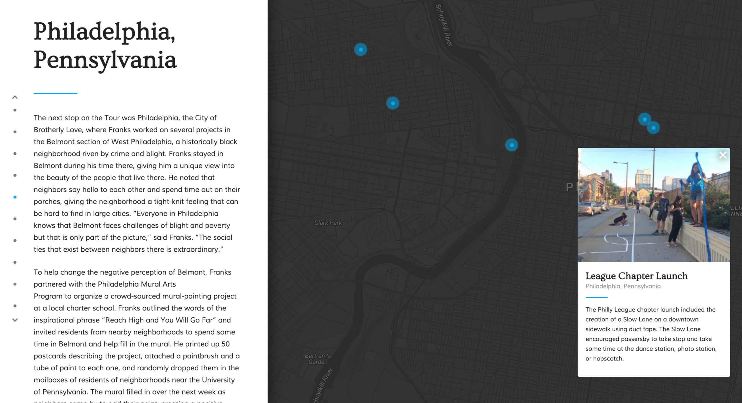 Interactive website screenshot