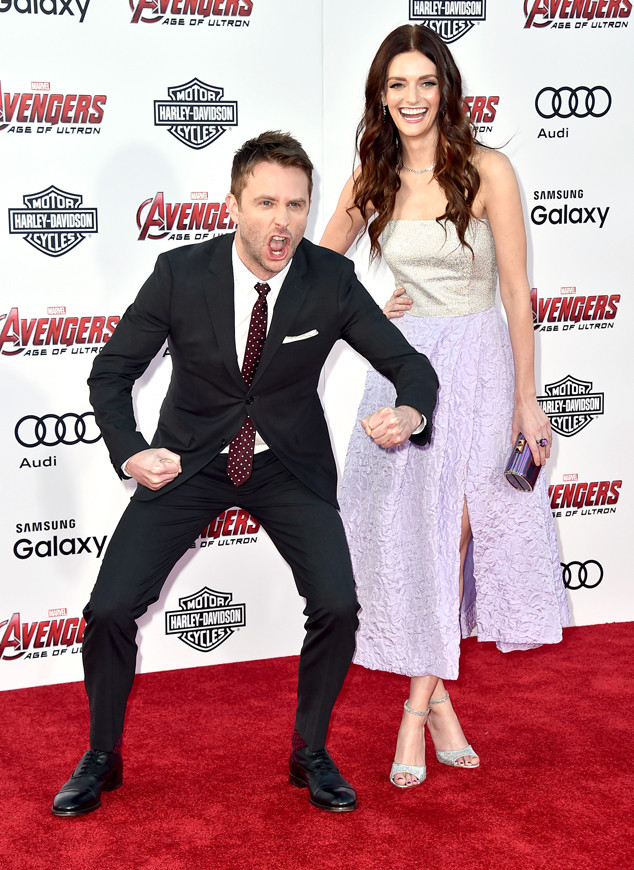 "Chris Hardwick, left, and Lydia Hearst arrive at the Los Angeles premiere of ""Avengers: Age Of Ultron"" at the Dolby Theatre on Monday, April 13, 2015. (Photo by Jordan Strauss/Invision/AP)"