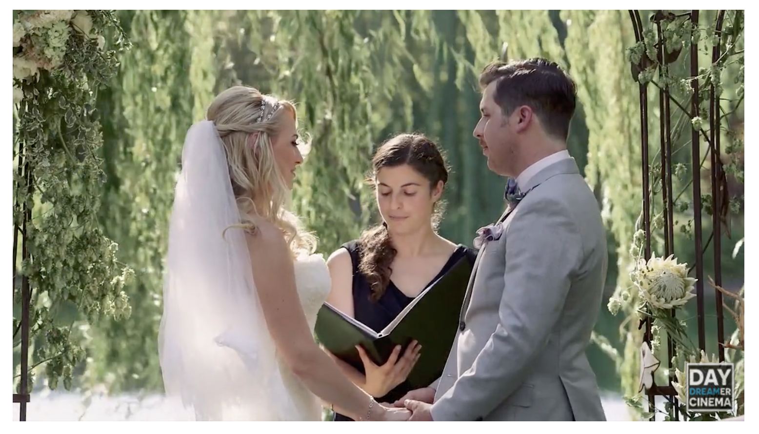 Watch Alicia in action at this beautiful wedding, captured by one of our recommended vendors,  Day Dreamer Cinema !