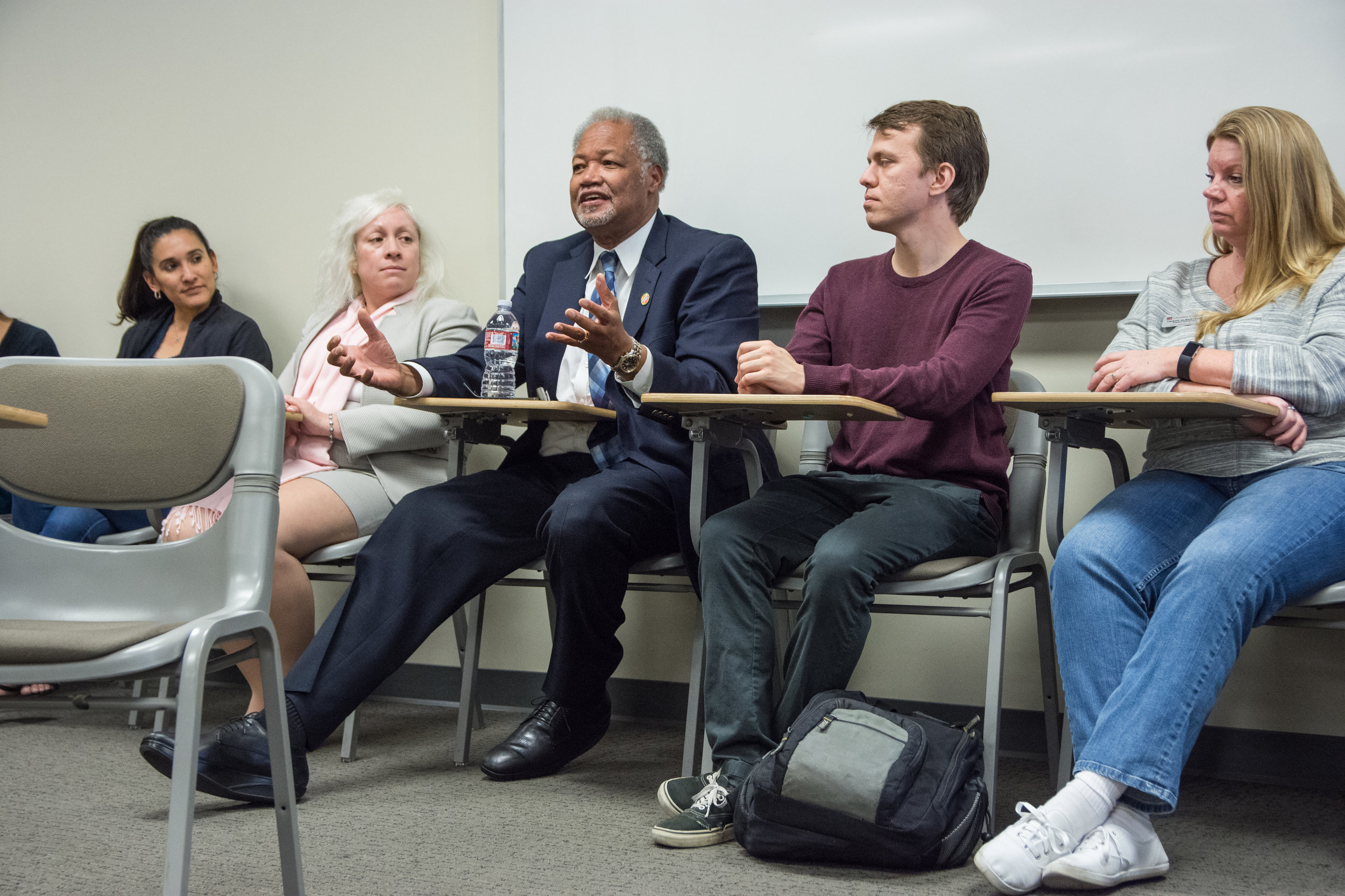 Superintendent Henry Shannon gives his perspective growing up under Jim Crow in the south. Photo by Jeanine Hill.