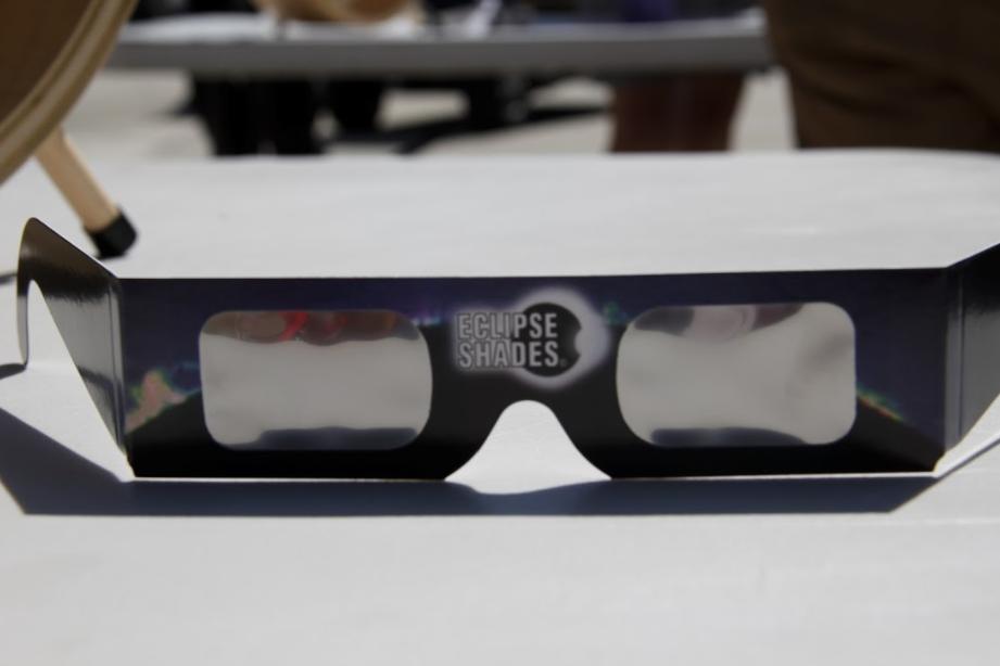 Solar eclipse safety glasses. Photo by Jullian Aiden Bravo