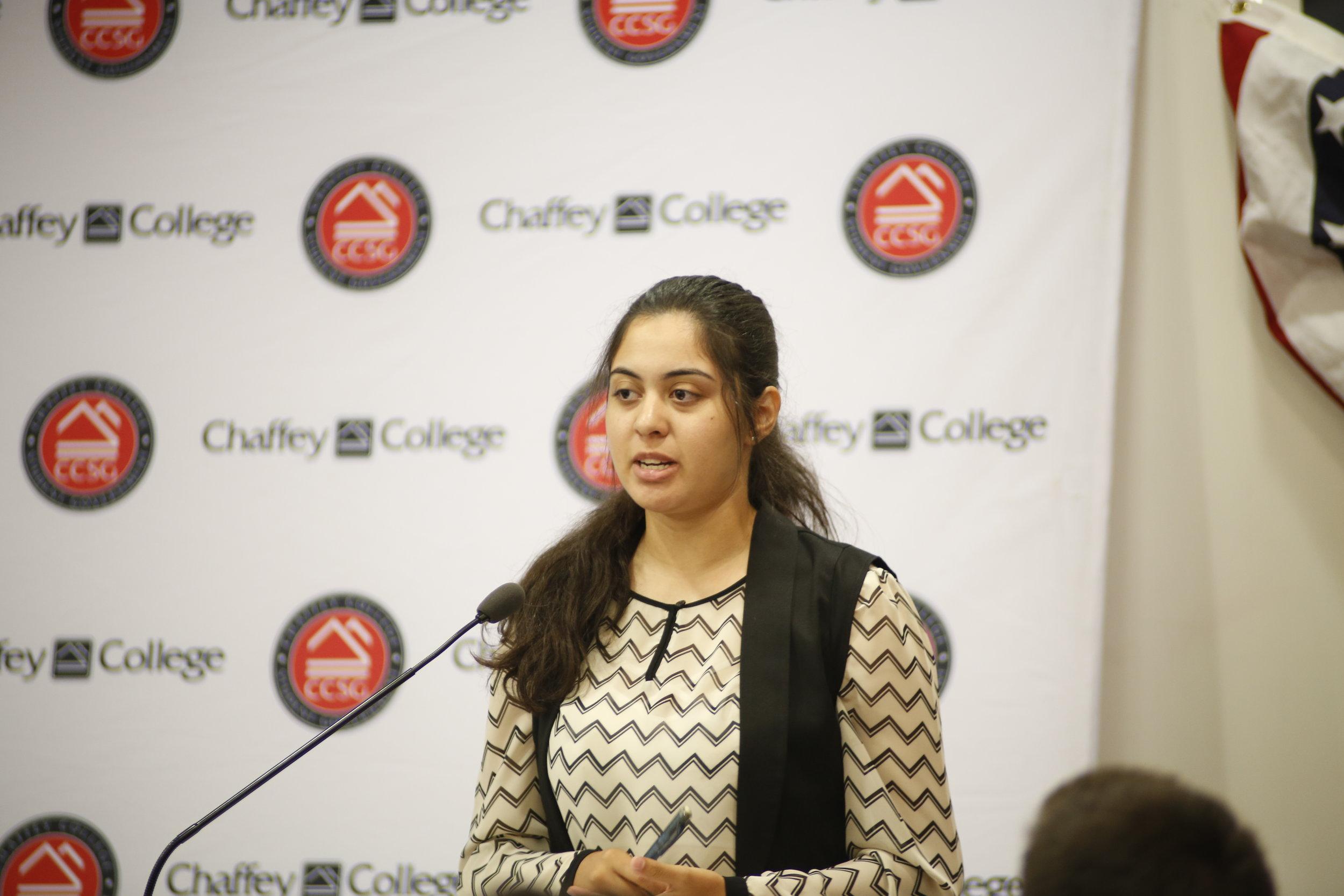 "Hafsa Sharafat stating, ""We need to ensure that we have good paying jobs.""  Photo Courtesy: Sid Suarez Sr."