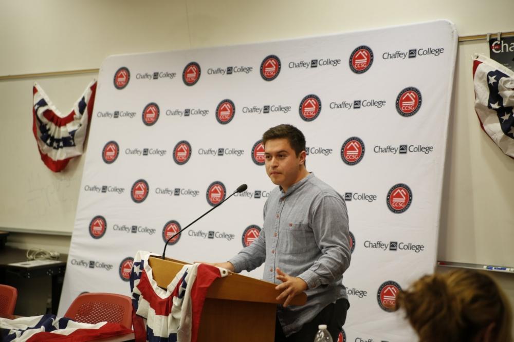 Hector Solorzano introducing the mayoral candidates.  Photo Courtesy: Sid Suarez Sr.