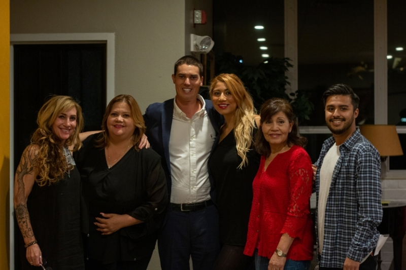 From Left to Right: Michelle Dowd, Lorena Corona, Thomas Reed with other attendees.