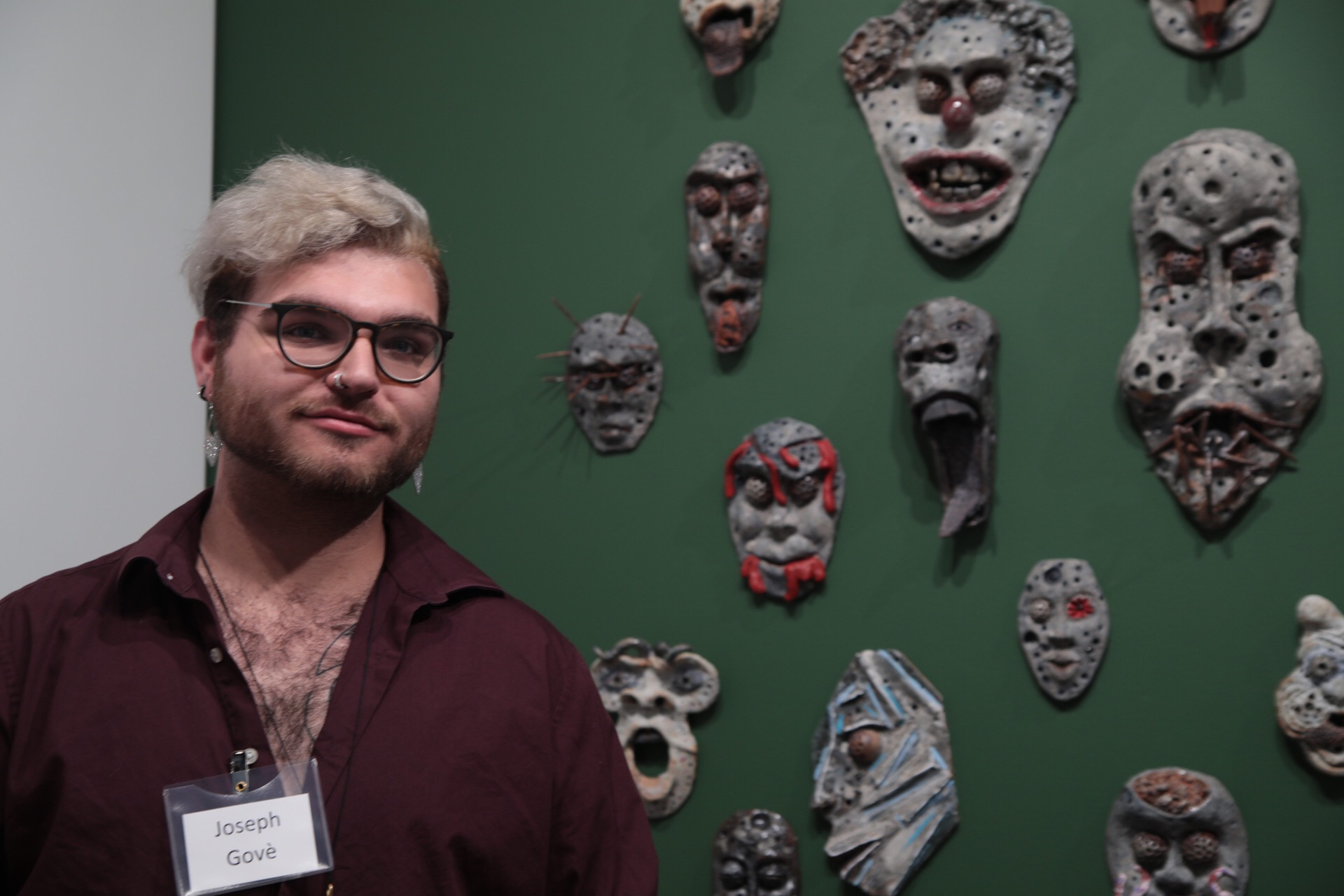 Joseph Govè with Phobia Masks.