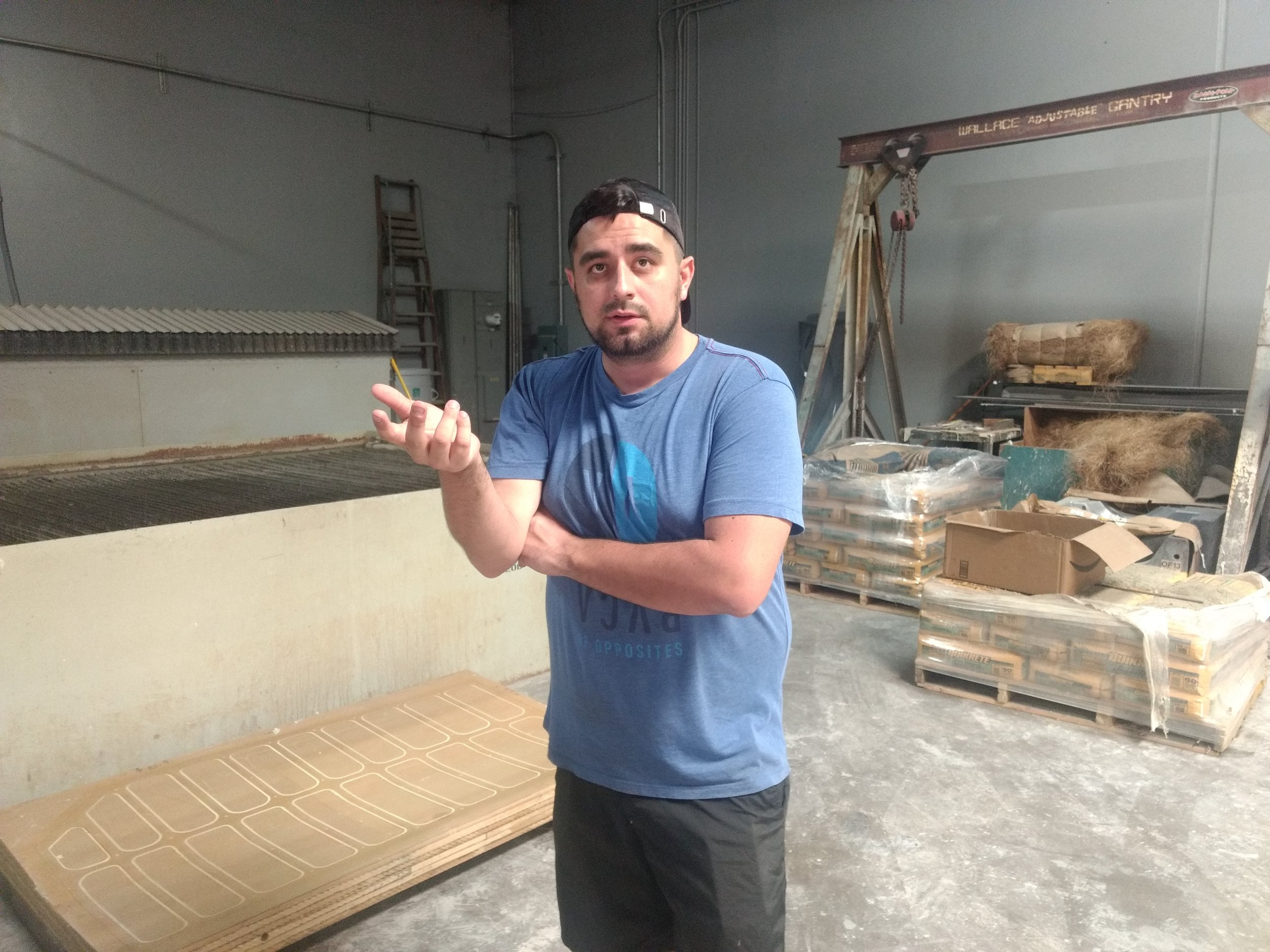 Ryan Molina speaking about the use of the waterjet.