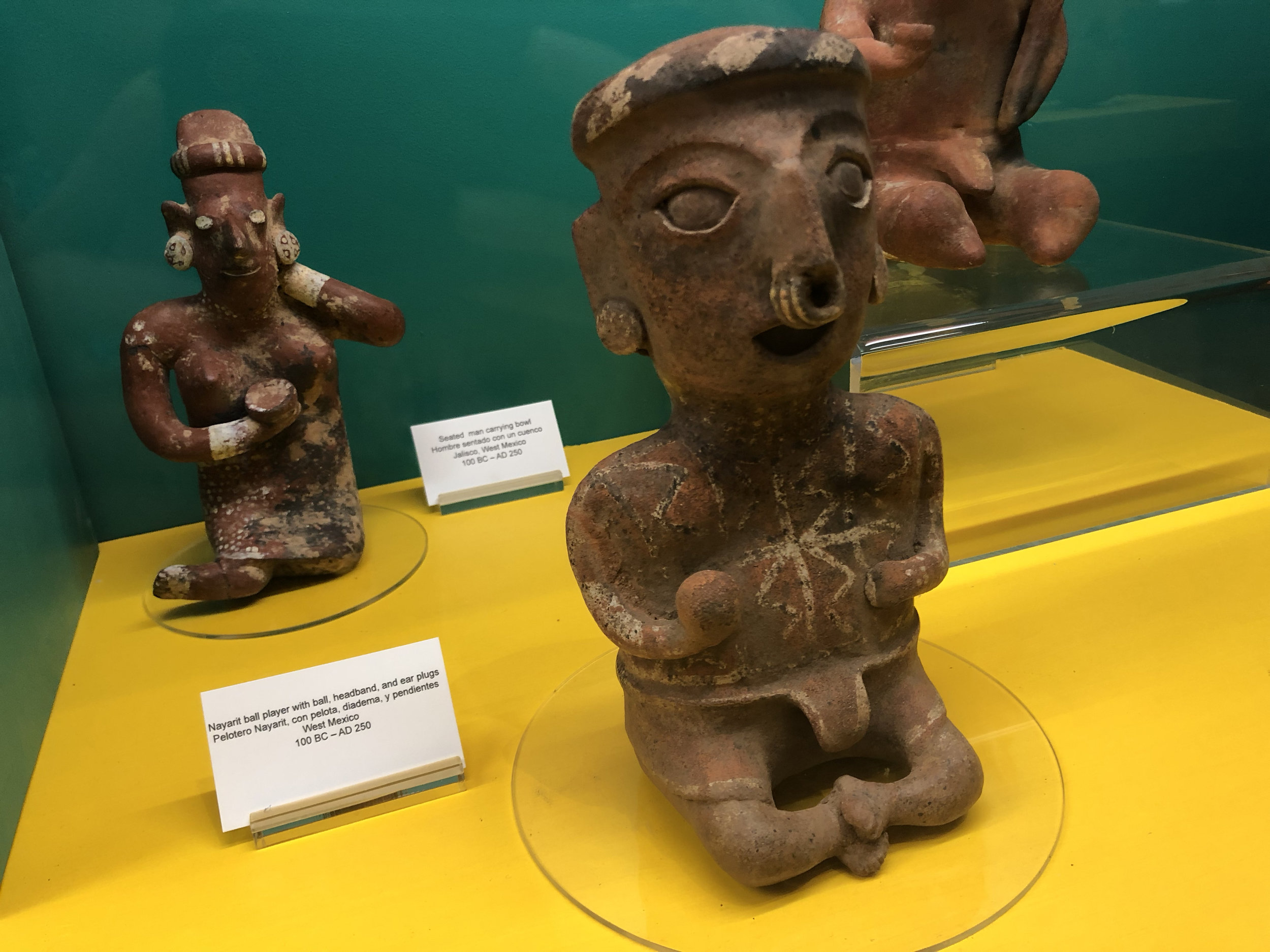 Artifact in museum from West Mexico. Photos by Kiara Jerez.