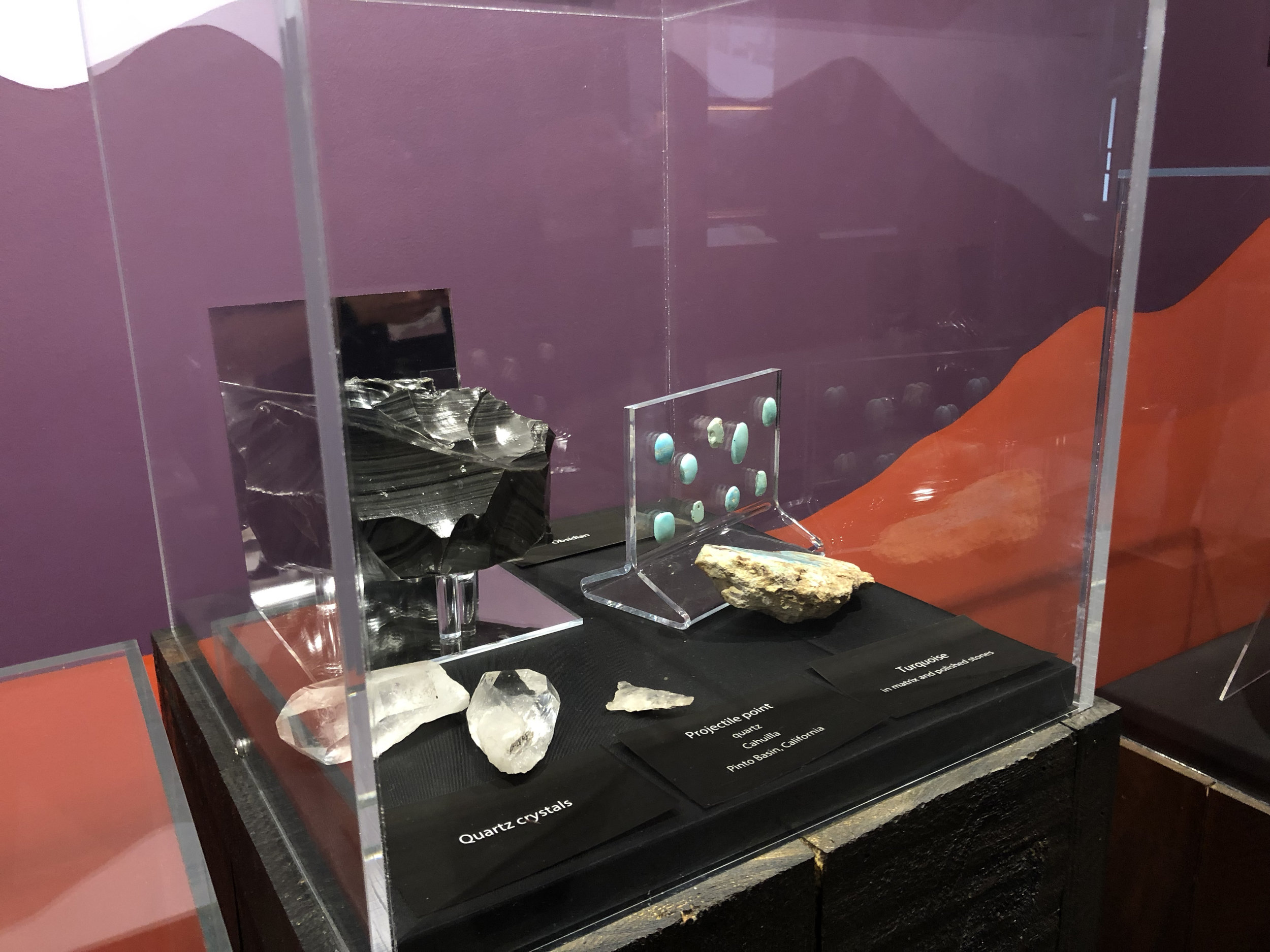 The variety of crystals displayed at the museum.