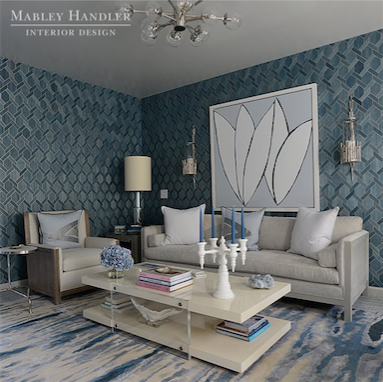 The  Mabley Handler  designed room at  Kip's Bay Palm Beach.
