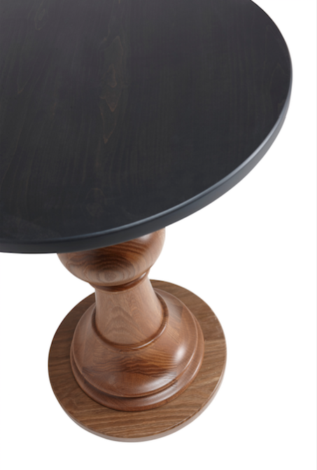 Regular Captain's Compass  - Matte black top with a fumed oak base. A custom turning to get it just the right height.