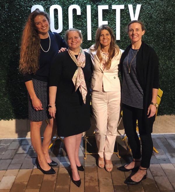 Elizabeth;Katie;Joy Hall, Chairwoman, OEC Society; and Sarah, CSA Ocean Sciences and member of WISE Australia.