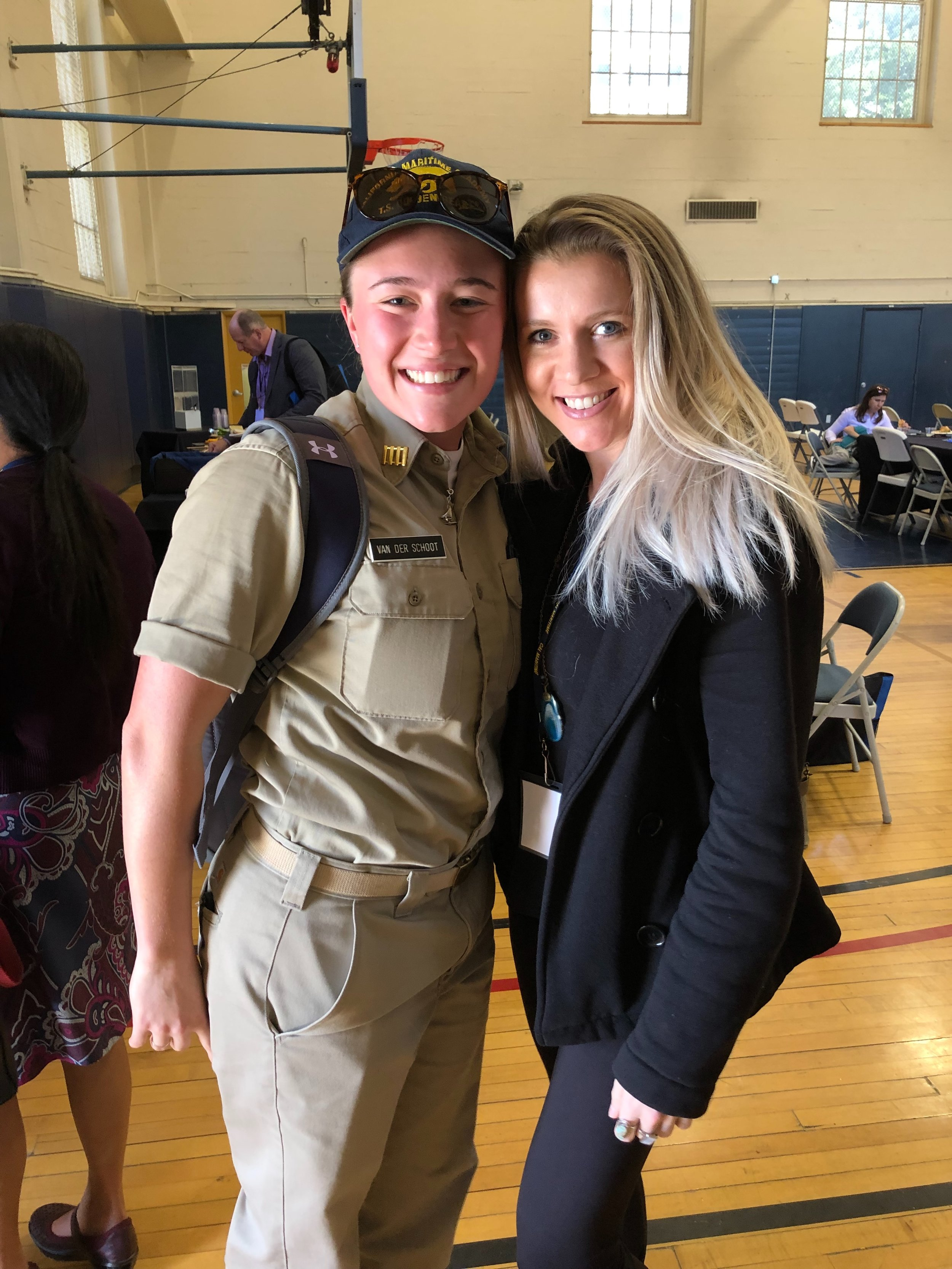 CMA Cadet Flora van der Schoot with Chae Guillot
