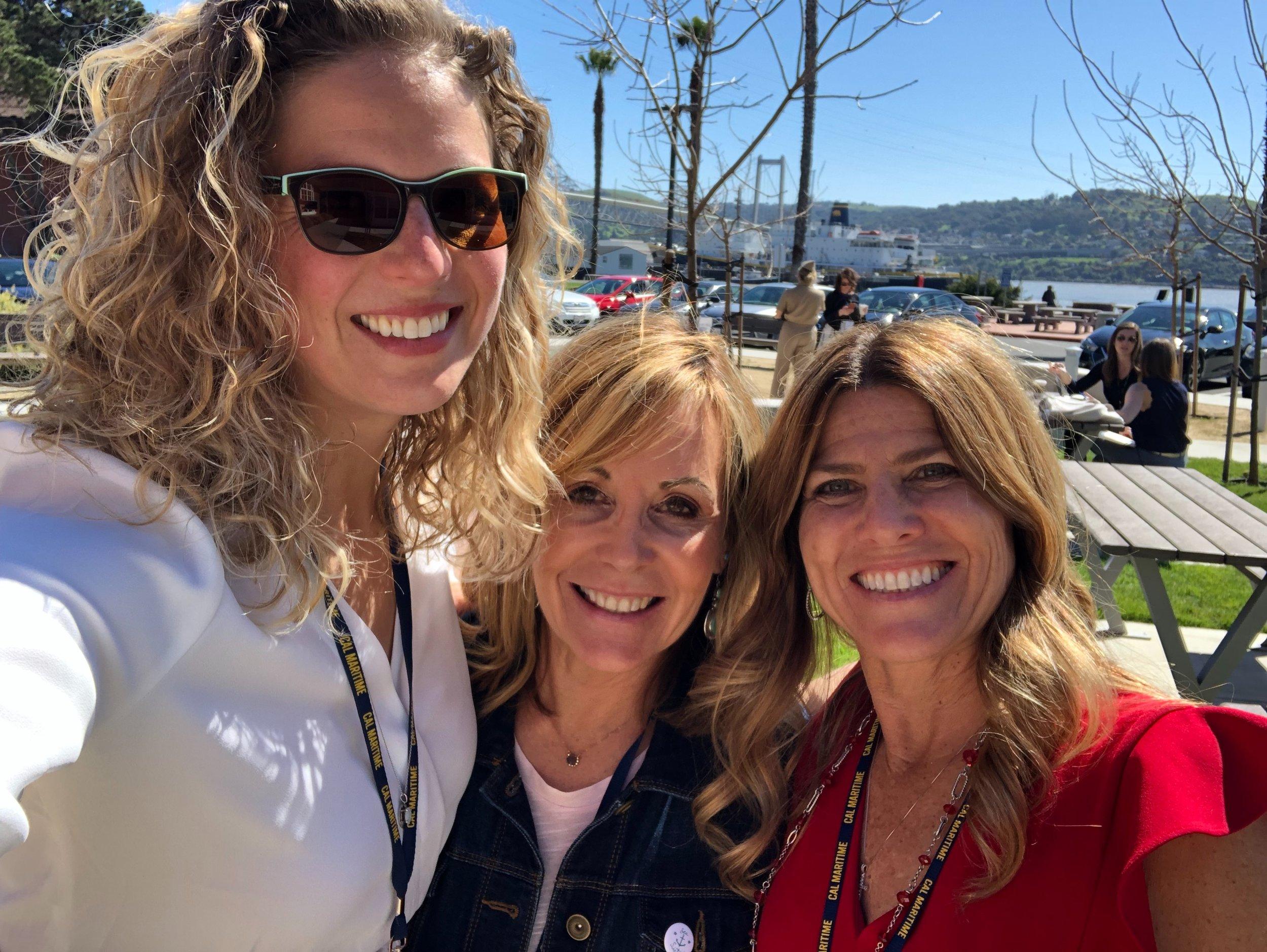 Elizabeth Simenstad, Christi Calvert, and Joy Hall enjoy some time in the sun.