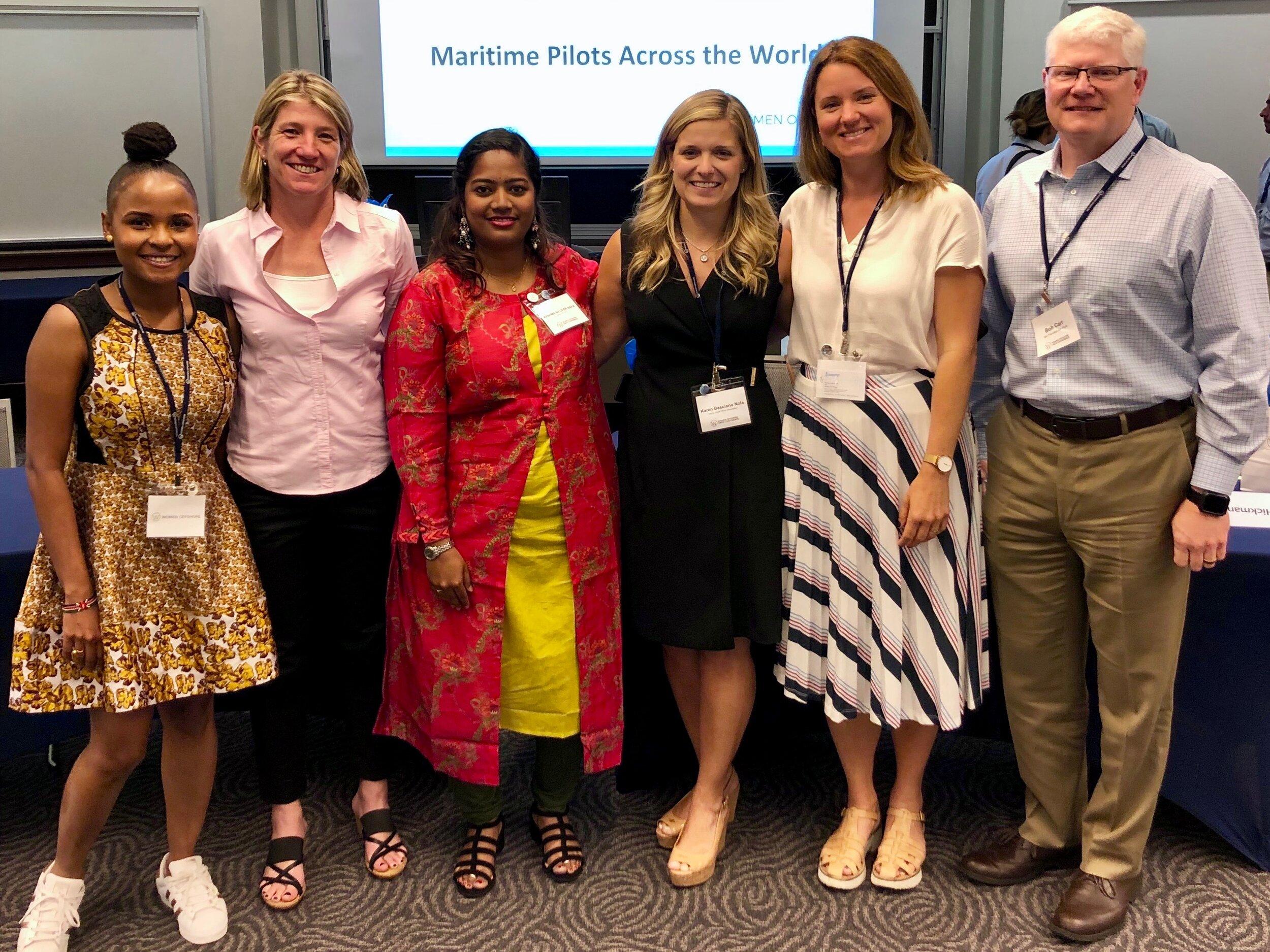 Photo Left to Right: Liz Marami, Captain Josephine Clark, Reshma Nilofer, Captain Karen Nola, Captain Hanna Odengrund, Captain Bob Carr