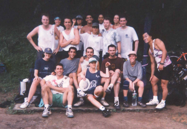 Oldest known photo of Ultimate Players playing at the field on the Peak... Circa 1995