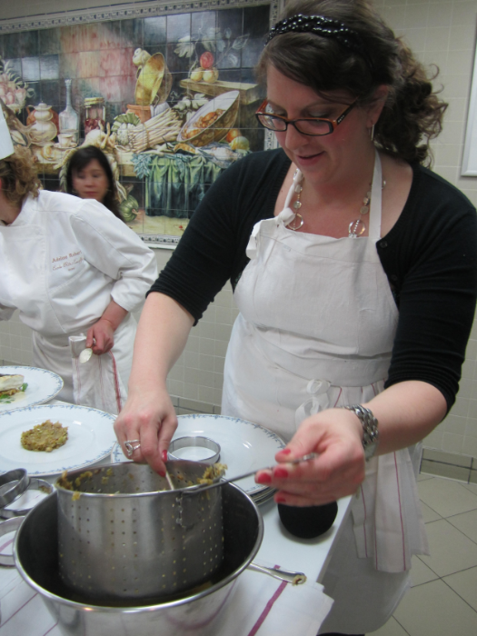 Taking a cooking class at Hôtel Ritz Paris.
