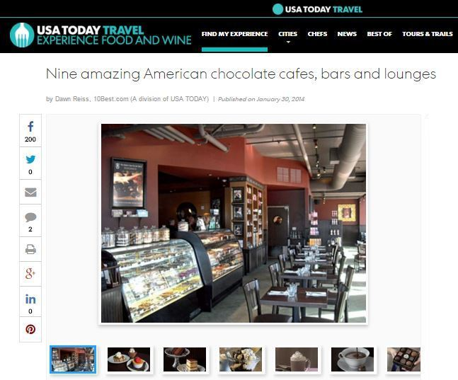 Some of the best chocolate cafes.