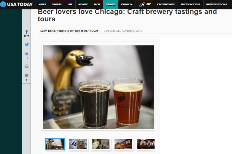 Since the days of bootlegging and Al Capone, Chicagoans have always liked their spirits and beer. Chicago has been right on trend, its craft breweries popping up as the movement has exploded across the country. There were 2,483 in 2013, up from 2,347 in 2012 and 1,521 in 2006 according to the Brewers Association.