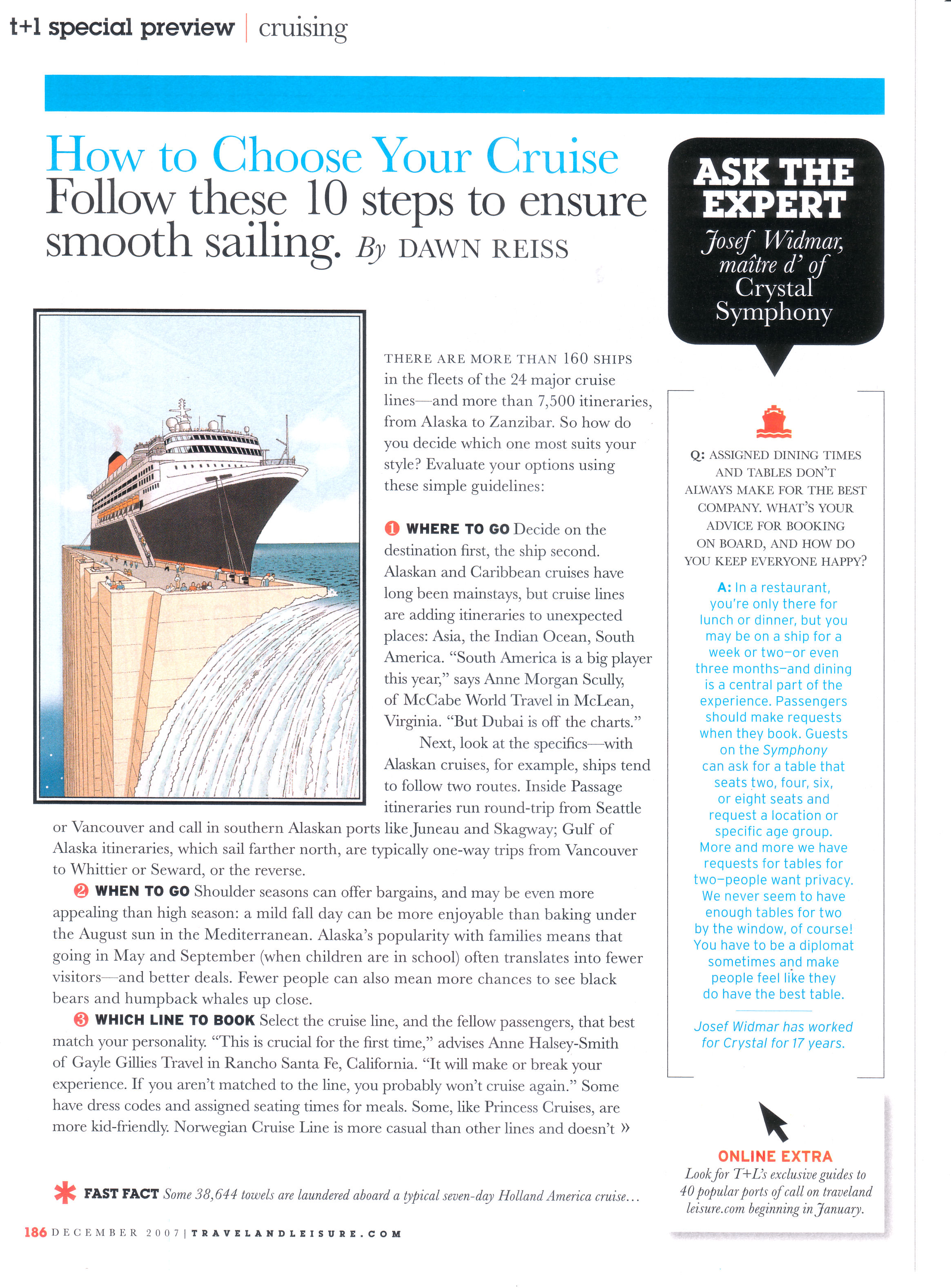 Tips for the cruise season.