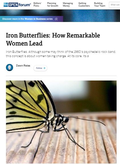 Iron Butterflies. Although some may think of the 1960's psychedelic rock band, this concept is about women taking charge. At its core, its about making women great leaders and highlighting the many female negotiators who often get overlooked by upper management.