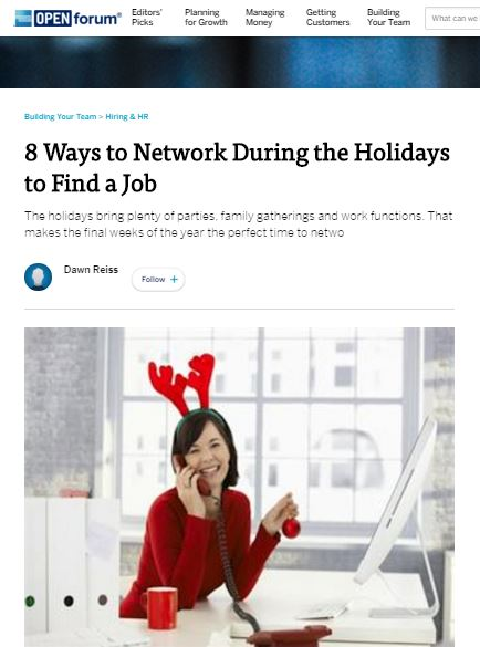 The holidays bring plenty of parties, family gatherings and work functions. That makes the final weeks of the year the perfect time to network, especially if you are looking for a job.