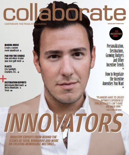 Cover story about convention, meeting and event planners who are using innovative technology.
