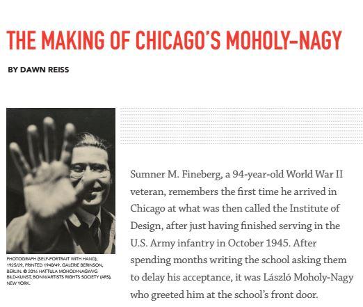 Chicago Architect magazine Maholy-Nagy