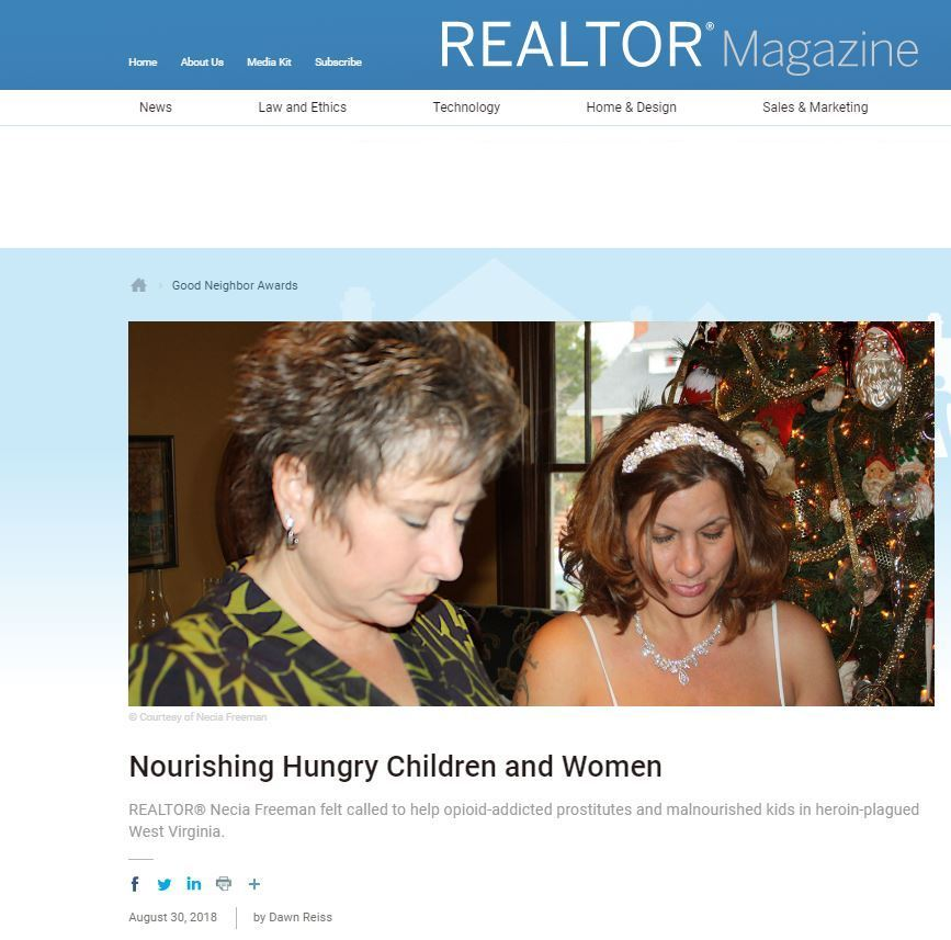 """REALTOR® Necia Freeman remembers the first time she tried talking to a heroin-addicted prostitute in Huntington, W.V.  It was November 2011. The city was just beginning to get noticed for its growing opioid addiction and heroin crisis. By 2015, the death rate tied to the drugs would become 10 times the national average, earning Huntington the moniker of """"overdose capital of the United States."""""""