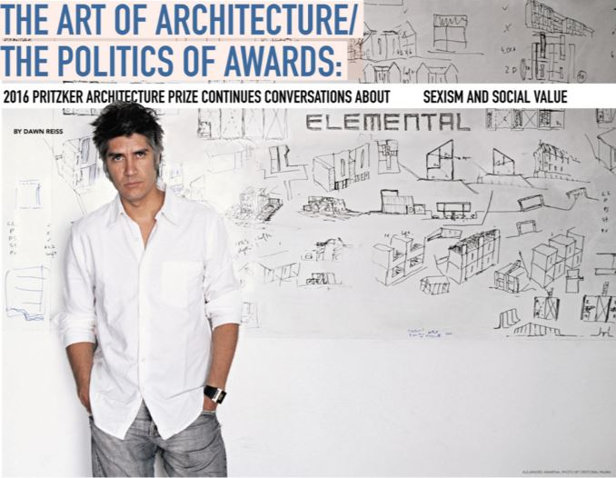 """Martha Thorne, executive director of the Pritzker Architecture Prize vividly remembers the phone call  she made to Alejandro Aravena telling him the eight-person jury had selected him as the 2016 prizewinner. """"He literally could not speak,"""" Thorne said. """"The first thing he said to me was 'Martha, don't joke about these things.' I said 'But I'm not.'"""""""