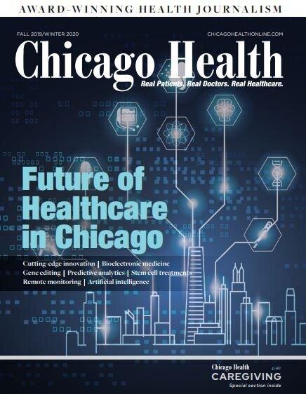 Chicago Health magazine cover Fall 2019-Winter 2020 Decoding Genetics Dawn Reiss Healthcare.JPG