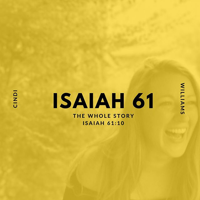 New on the blog! In this series, we are going to take a deep dive into Isaiah 61 and search it out verse by verse to see what God wants us to know about the hope He has been declaring over us for generations! Today, Cindi Williams is going to walk us through verse 10 of Isaiah 61! Check the link in our bio!