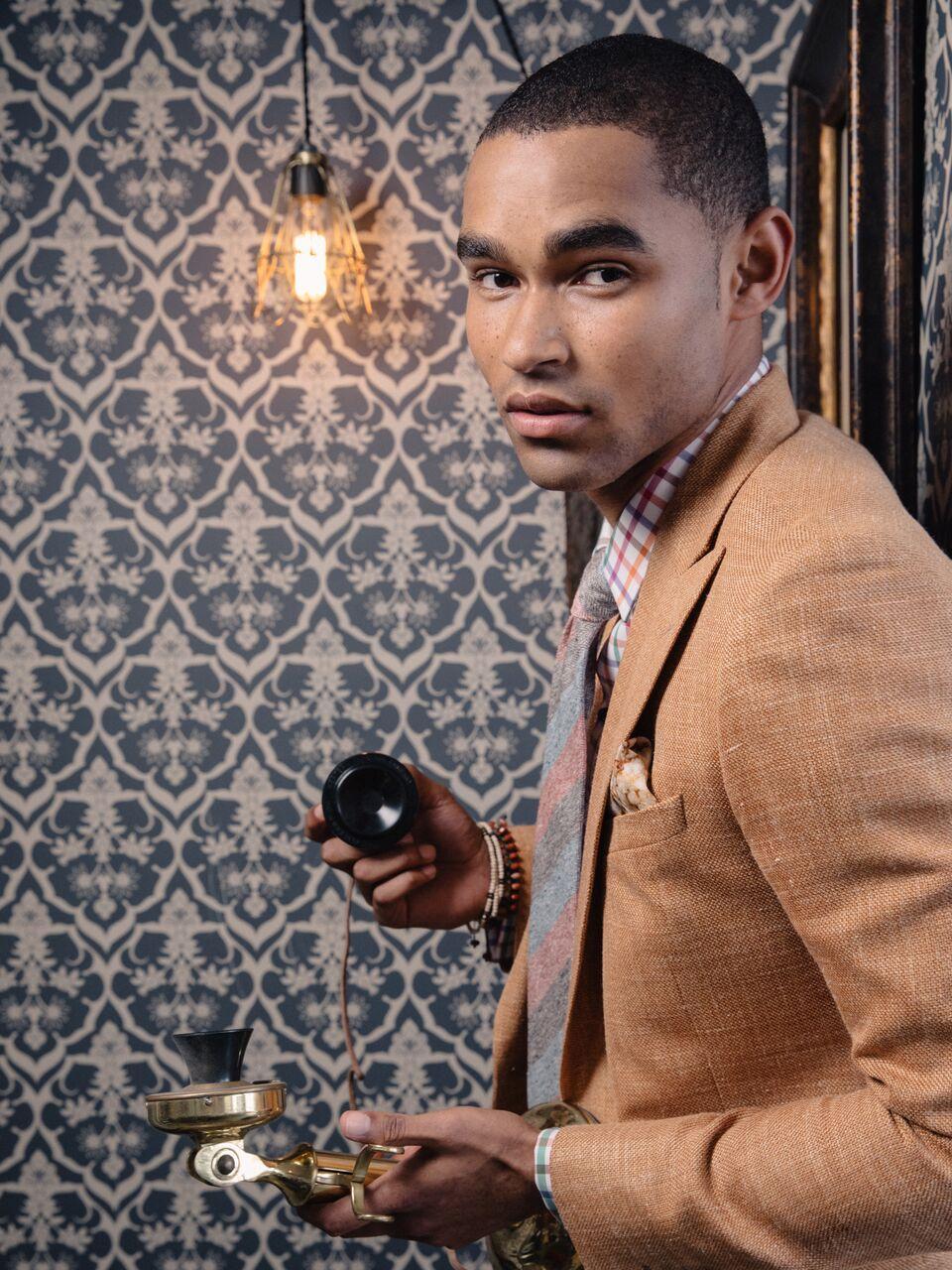 Model - Jason Baker (LA Models)  Made to Measure Suit. Ready-to-Wear Necktie  Klein Epstein & Parker - Fashion Valley (San Diego)